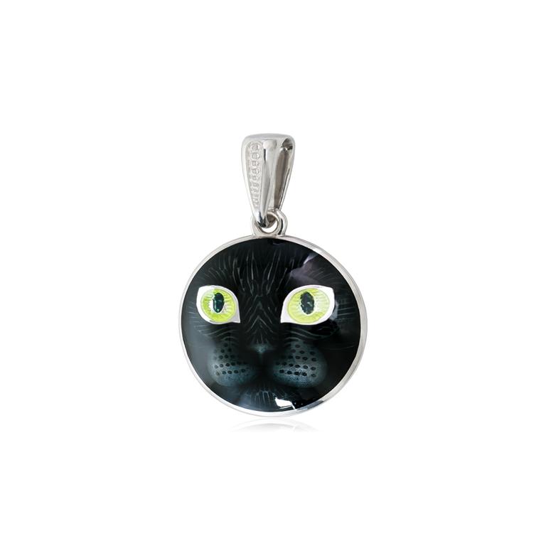 7 45 2s - Подвеска из серебра «Кошачьи глазки», желтая