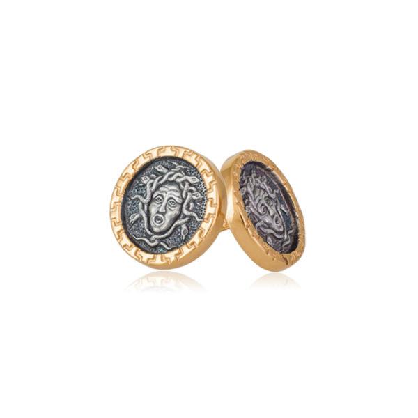 gorgona 1 600x600 - Пуссеты серебряные «Горгона»