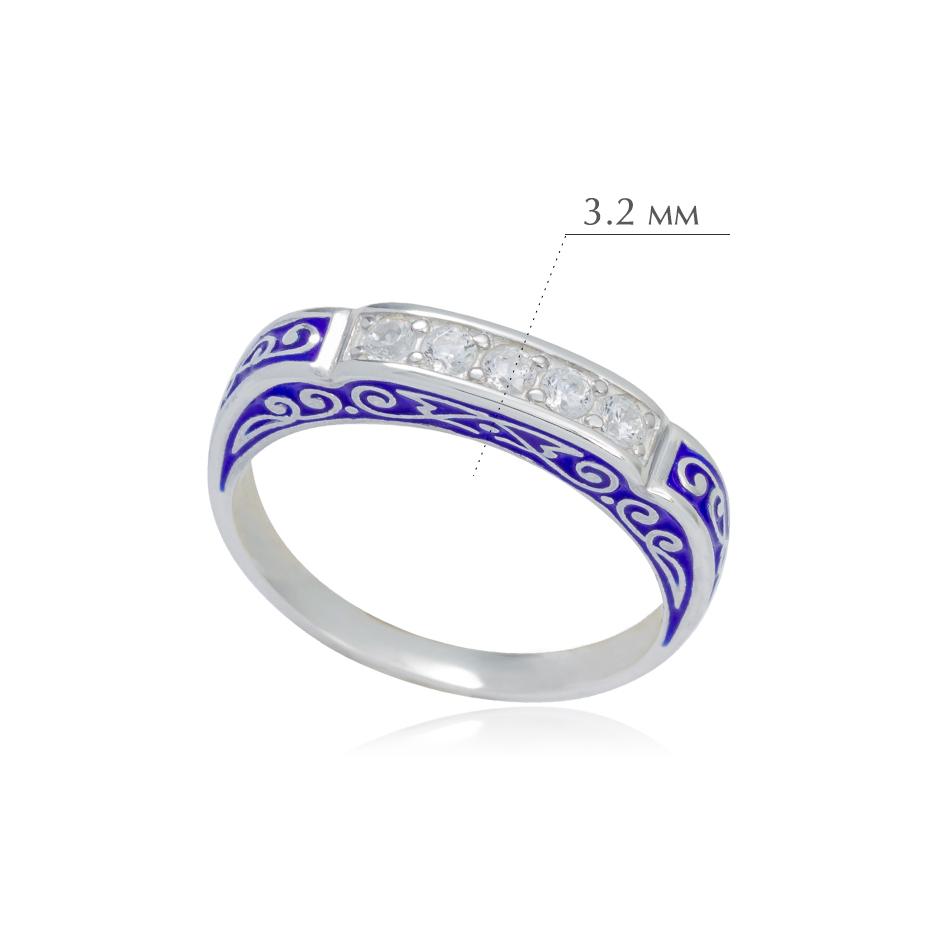 grecheskoe2 - Кольцо из серебра «Греческое», синее с фианитами