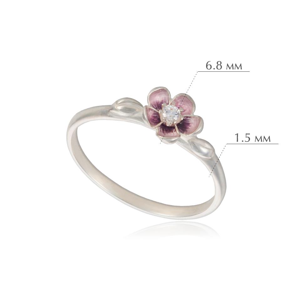 sakura - Кольцо из серебра «Сакура», розовое