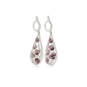 verona 300x300 - Серьги-подвески серебряные «Верона», розовые