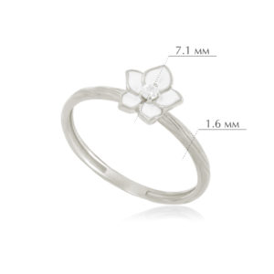 zhasmin 4 300x300 - Кольцо из серебра «Жасмин», белое