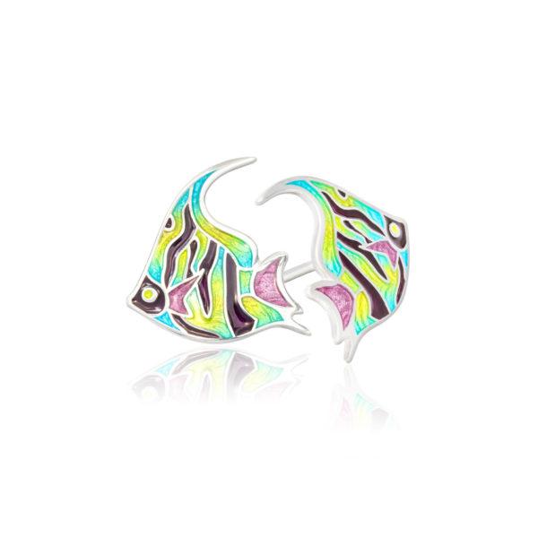 31 267 600x600 - Пуссеты из серебра «Скалярия», разноцветные