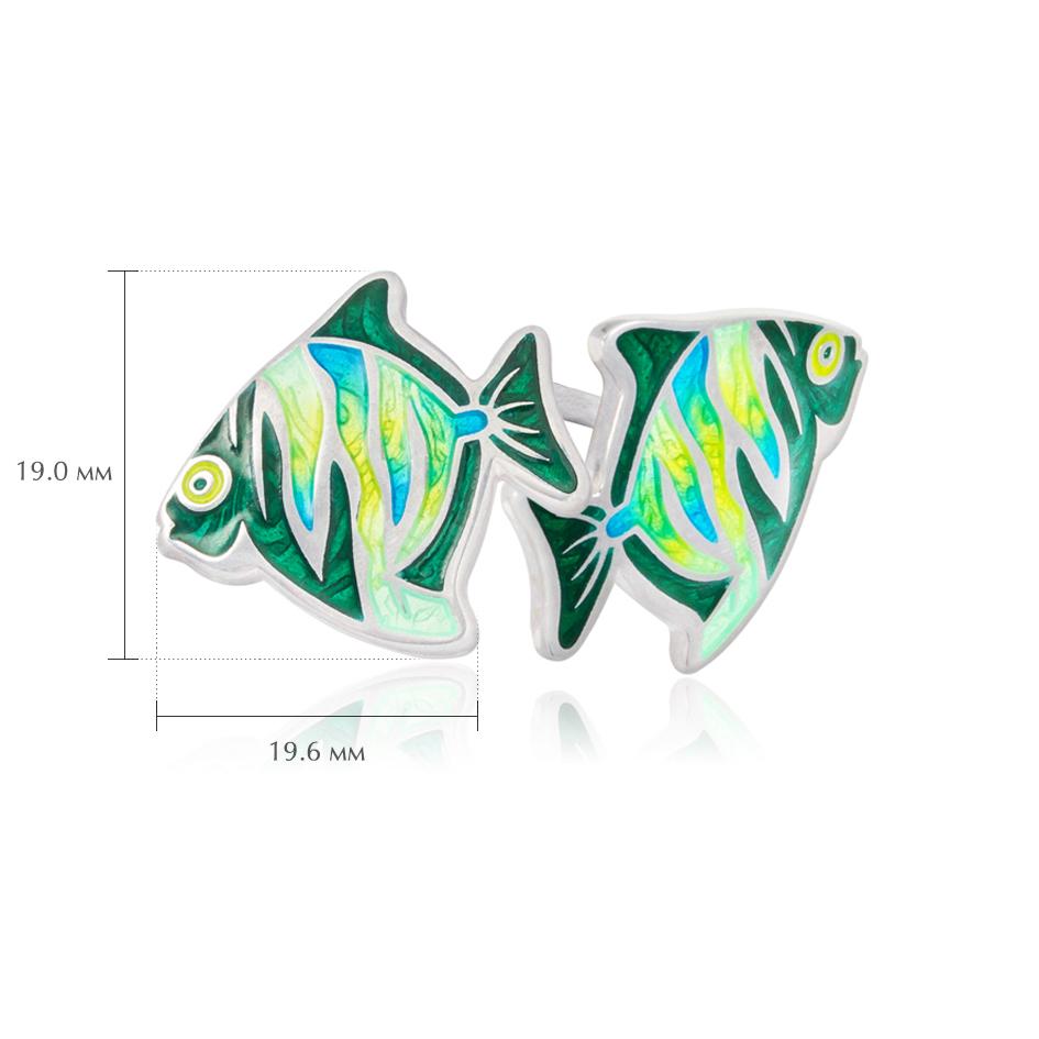 pussety barbus - Пуссеты из серебра «Барбус», зеленые