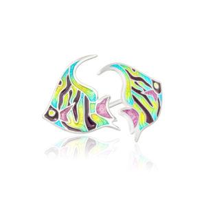ryb1 300x300 - Пуссеты из серебра «Скалярия», разноцветные
