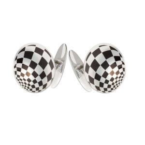 21 197s 300x300 - Серебряные запонки «Шахматы»