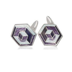 21 249 2s 300x300 - Серебряные запонки «Невозможные фигуры»