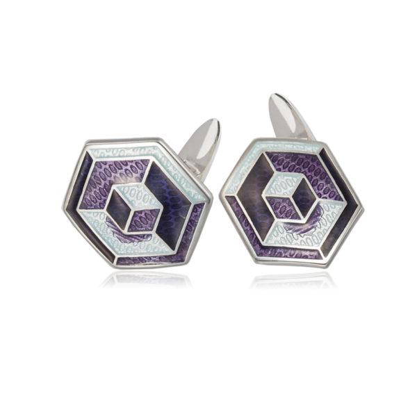 21 249 2s 600x600 - Серебряные запонки «Невозможные фигуры»