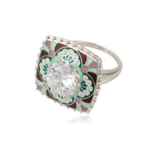 7 99 3s 300x300 - Перстень «Сады Семирамиды», зеленый с фианитами