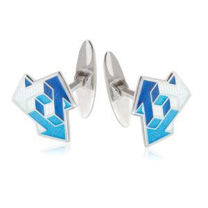 21 231 1s 1 300x300 - Серебряные запонки «Виа», синие