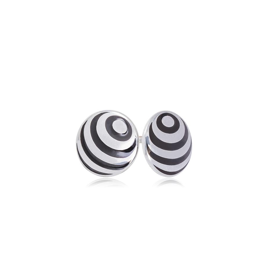 31 234 1s 1 - Пуссеты из серебра «Рефлексио»