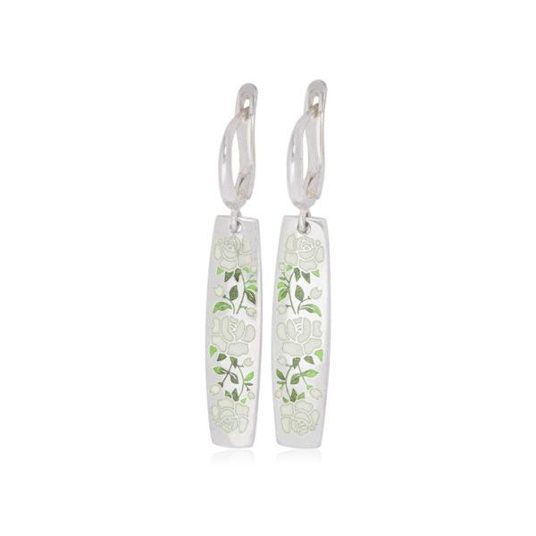 3 25sp 3s 600x600 - Серьги-подвески серебряные «Розы», белые
