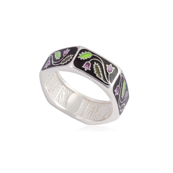 61 124 1s 600x600 - Кольцо из серебра «Спас-на-крови», черное