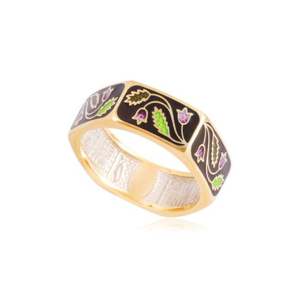 61 124 1z 600x600 - Кольцо из серебра «Спас-на-крови» (золочение), фиолетовая