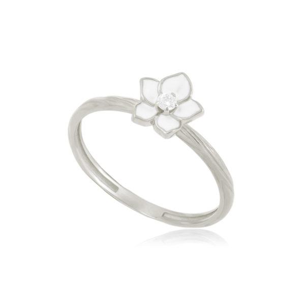 61 207 2s 600x600 - Кольцо из серебра «Жасмин», белое