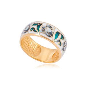 61 136 4z 300x300 - Кольцо из серебра «Тюльпаны» (золочение), дымчатое