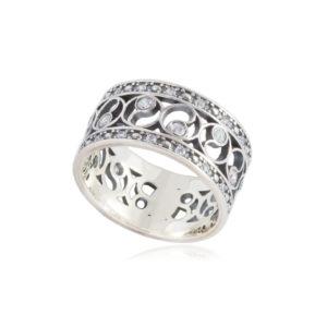 61 239s 300x300 - Кольцо из серебра «Фэншуй» с фианитами