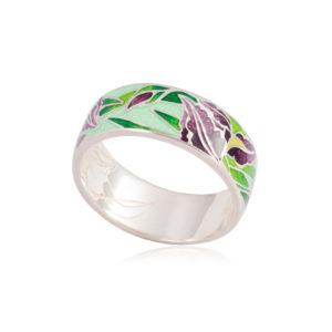 6 46 2s 300x300 - Кольцо из серебра «Ирисы», зеленое