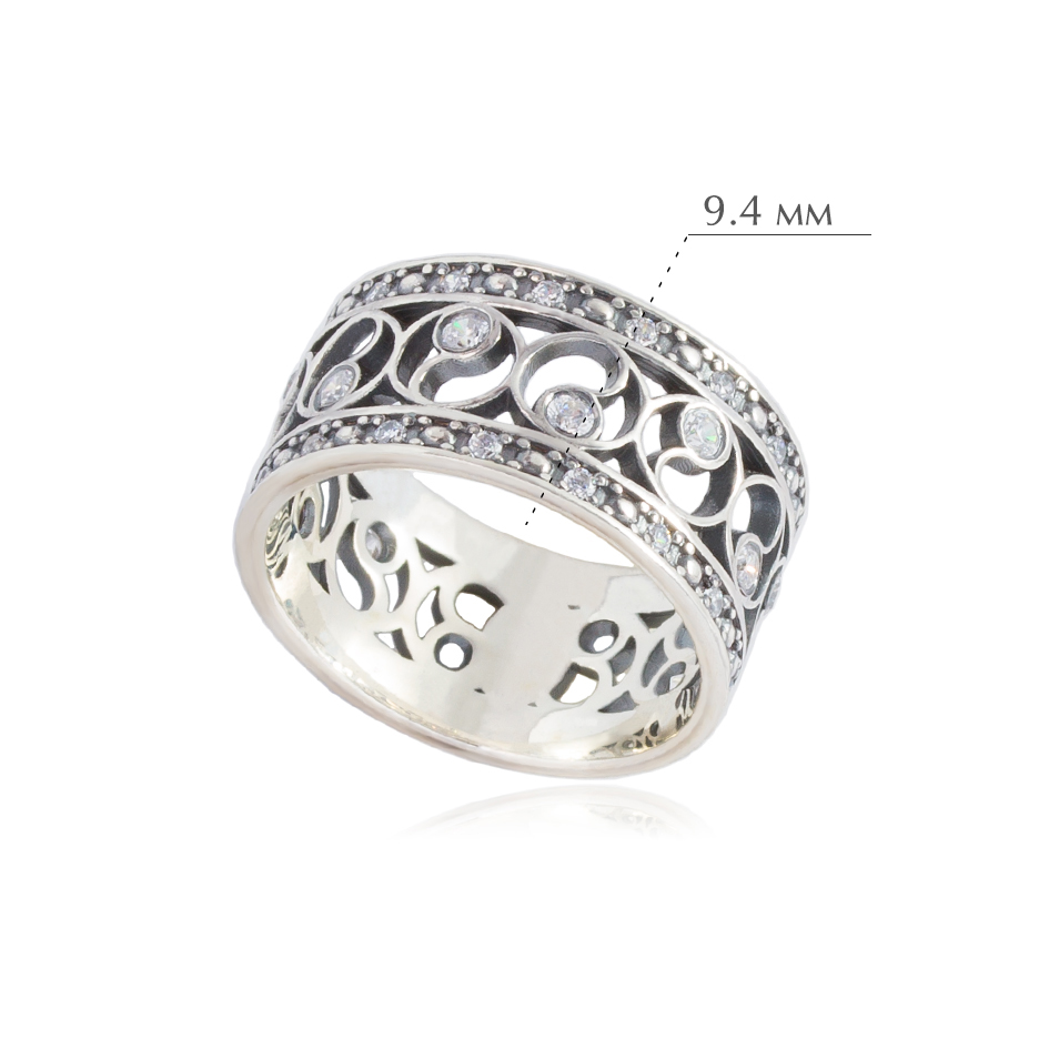 fenshuj 1 - Кольцо из серебра «Фэншуй» с фианитами