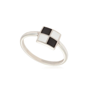 kolcza 1 300x300 - Кольцо из серебра «Малевич», черно-белое