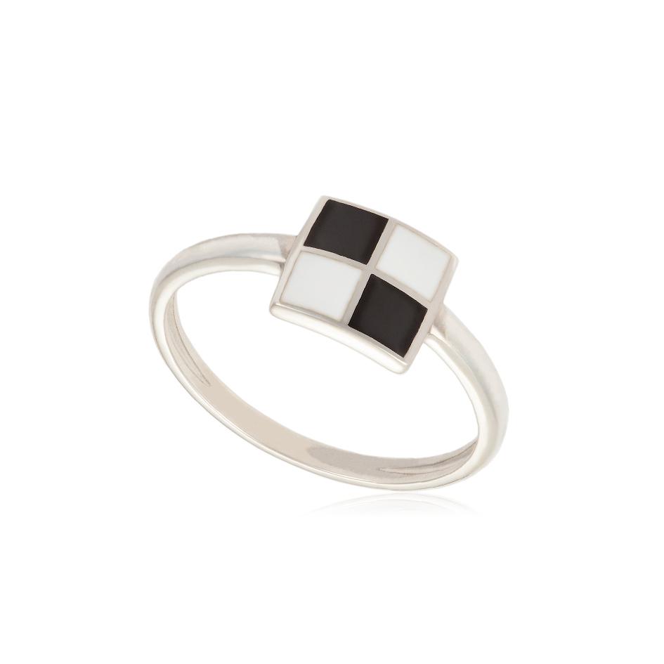 kolcza 1 - Кольцо из серебра «Малевич», черно-белое
