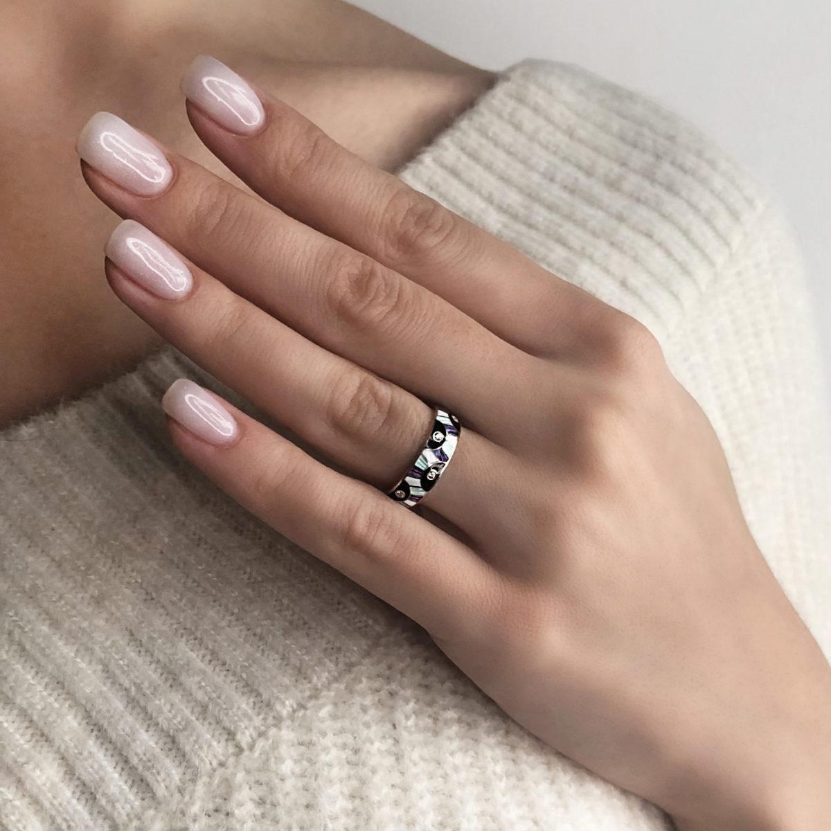 sravnit erte fioletovaya 1200x1200 - Кольцо из серебра «Эрте», фиолетовое с фианитами