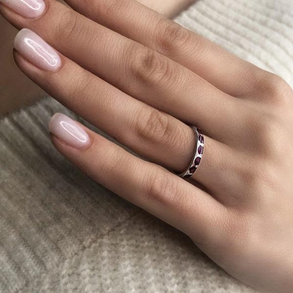 sravnit sedmicza fioletovaya 600x600 - Кольцо из серебра «Седмица», фиолетовое