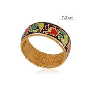 tyulpany 3 300x300 - Кольцо из серебра «Тюльпаны» (золочение), красное