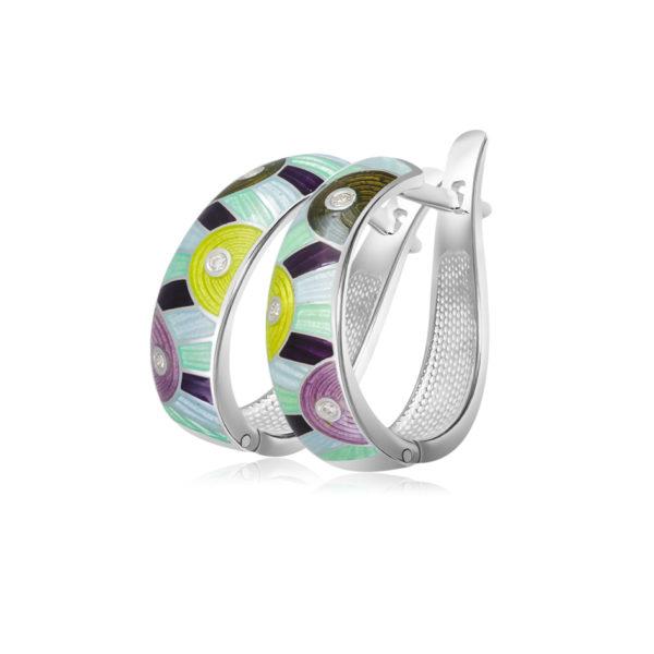 31 162 4s 600x600 - Серьги-полукольца «Эрте», разноцветные