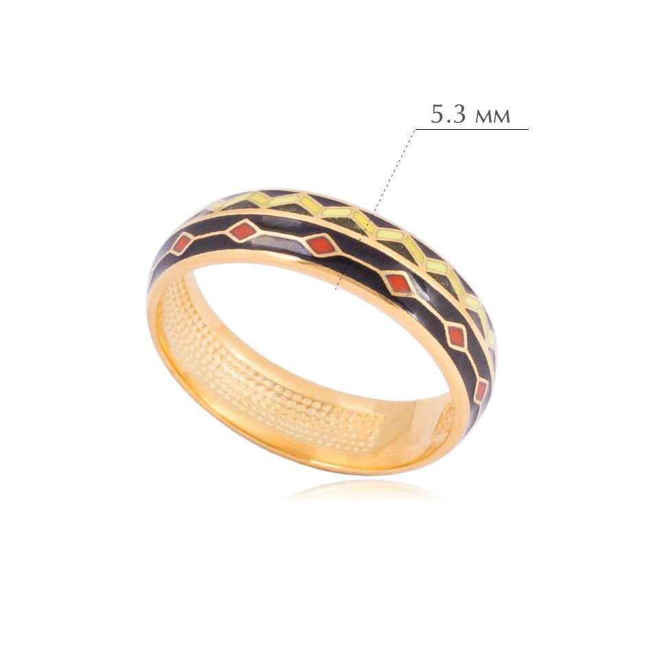 61.187z - Кольцо из серебра «Мозаика» (золочение)