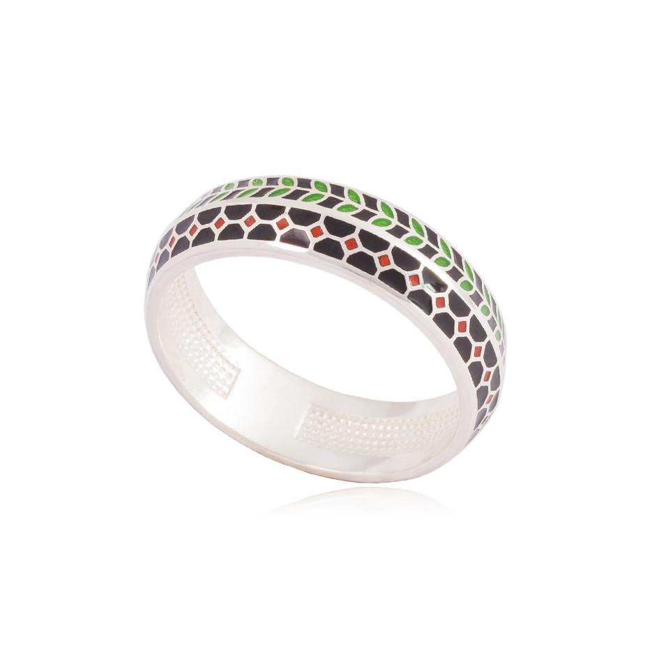 61 188 1s - Кольцо из серебра «Мозаика»