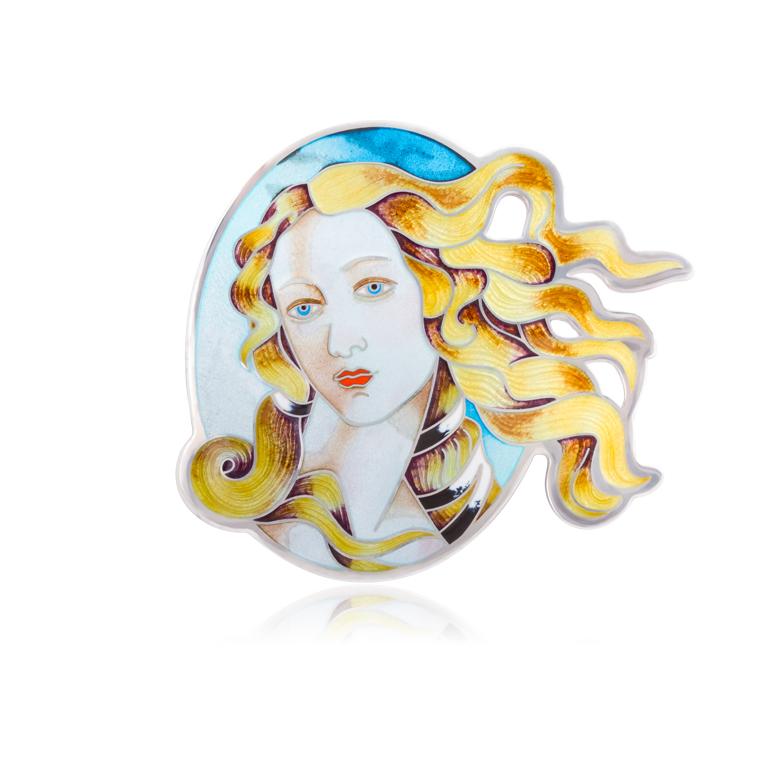 71 230 1s - Серебряная подвеска-брошь «Рождение Венеры»