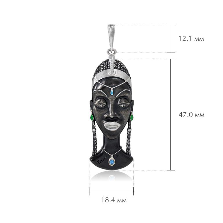 podveska kuaja - Серебряная подвеска «Африканская маска Куайя»