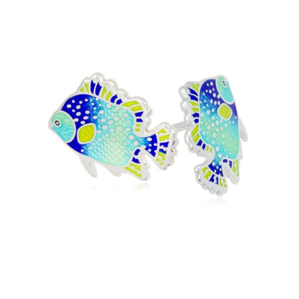 lyalius 600x600 - Пуссеты из серебра «Лялиус», голубые