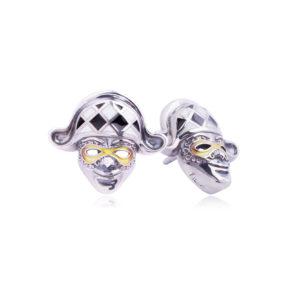 31 286 1s 300x300 - Пуссета из серебра «Арлекин», черно-белая