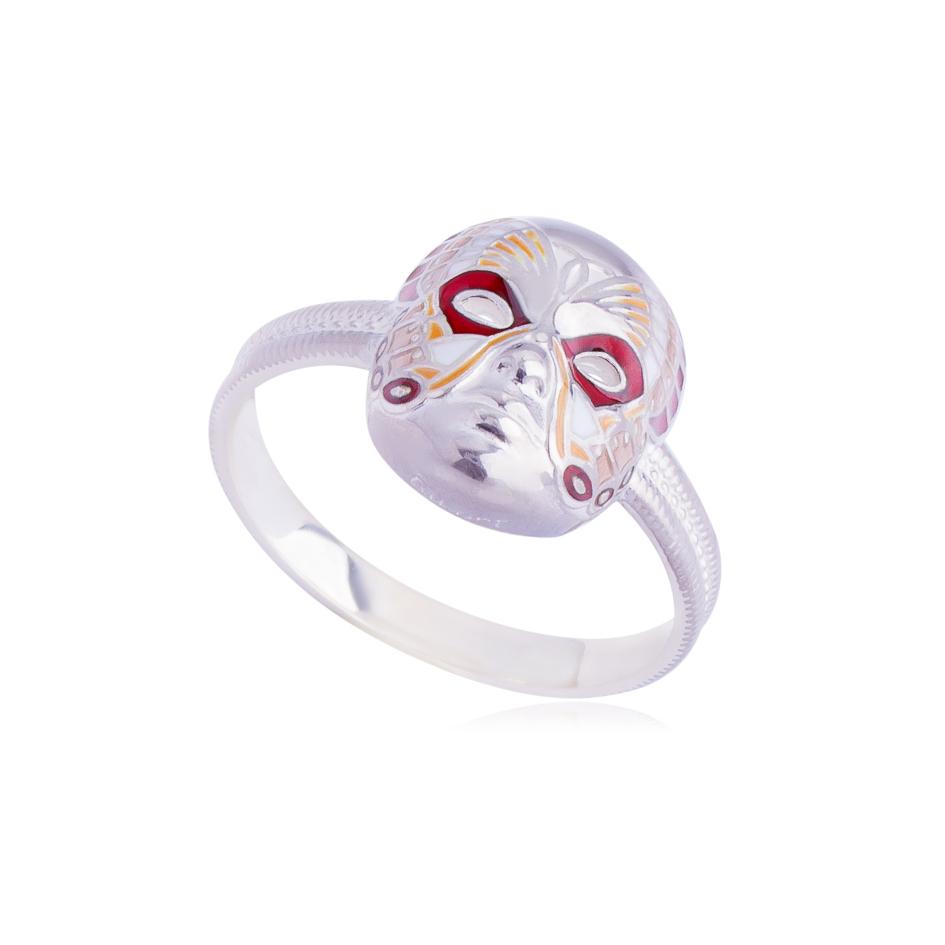 61 285 3s - Кольцо «Маска Бабочка», красное