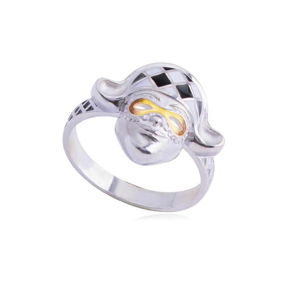 61 286 1s raskr - Кольцо «Арлекин», желтое