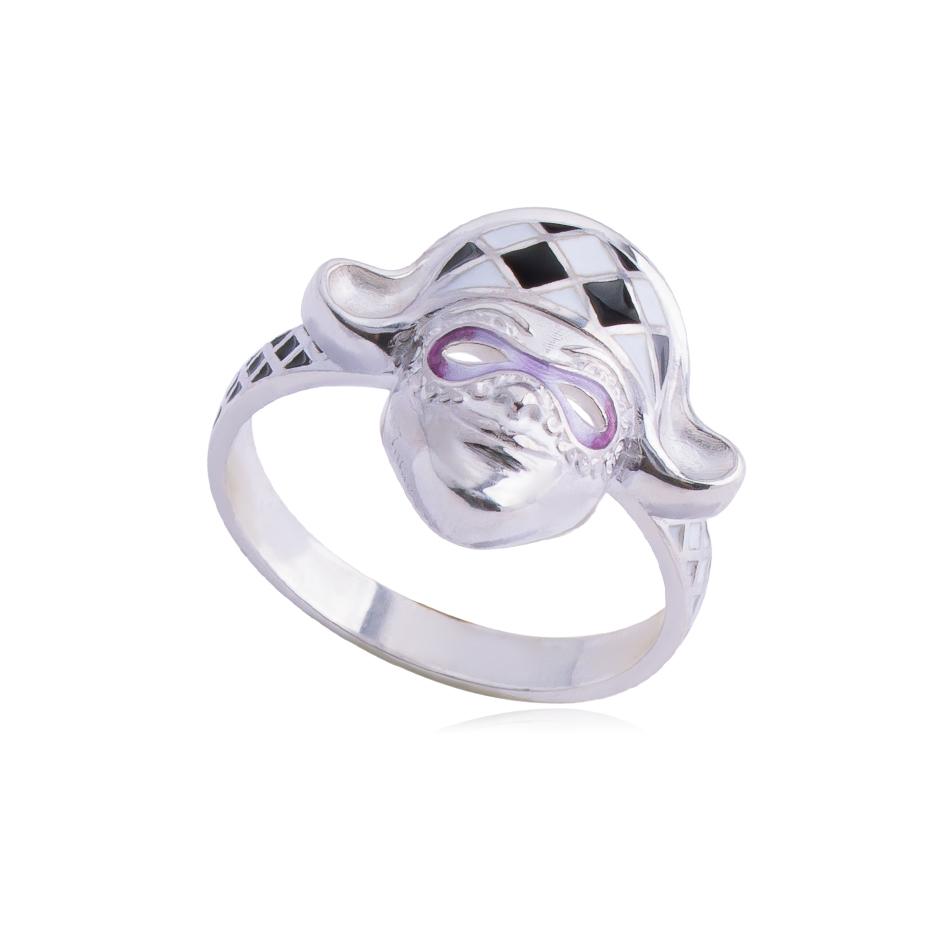 61 286 2s - Кольцо «Арлекин», фиолетовое