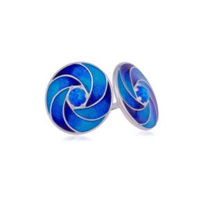 31 244 1s 300x300 - Пусеты серебряные «Невозможное», синие с опалом