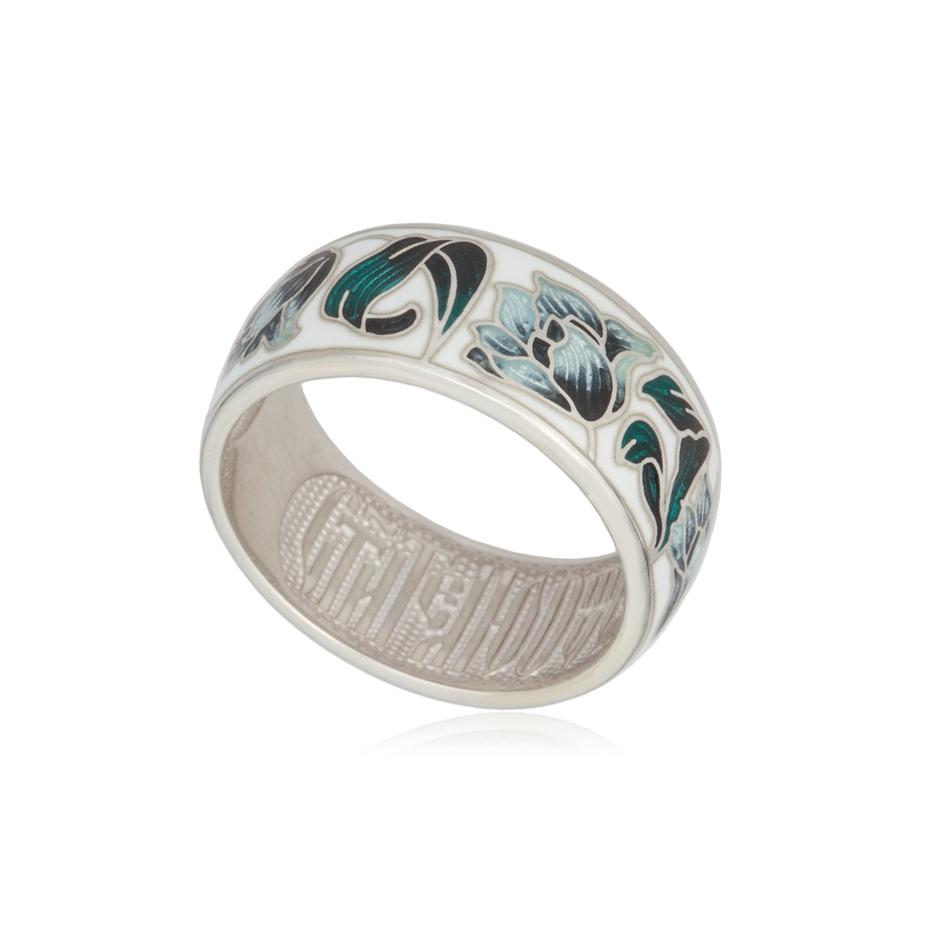 61 136 4s - Кольцо из серебра «Тюльпаны», дымчатое