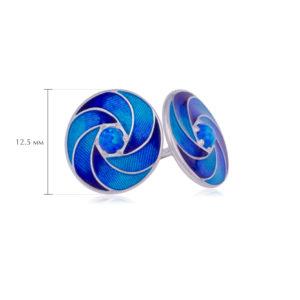 nevozmozhnoe 2 300x300 - Пусеты серебряные «Невозможное», синие с опалом