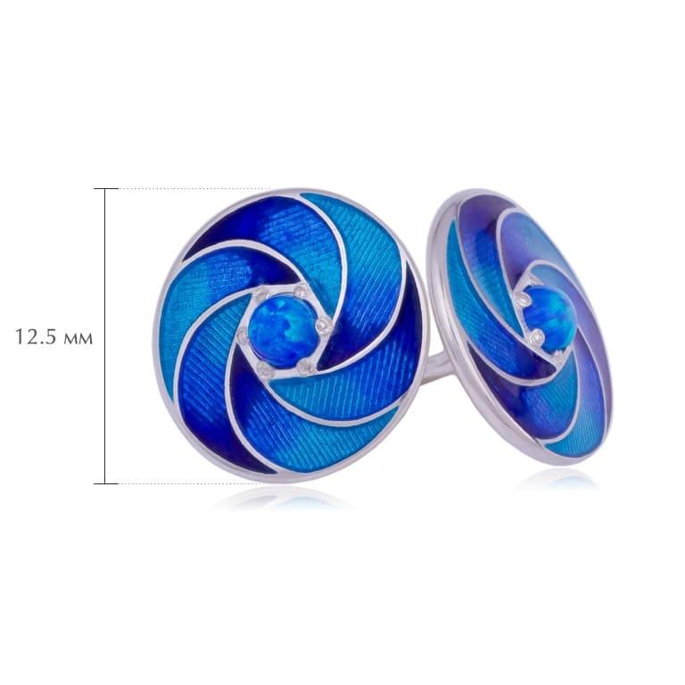 nevozmozhnoe 2 - Пусеты серебряные «Невозможное», синие с опалом
