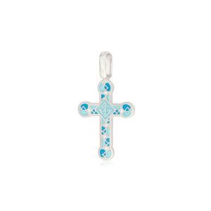 8 30 2s 300x300 - Нательный крест из серебра «Седмица», бирюзовый