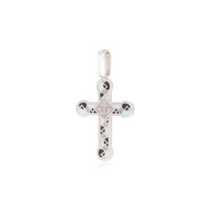 8 30 3s 1 300x300 - Нательный крест из серебра «Седмица», бирюзовый