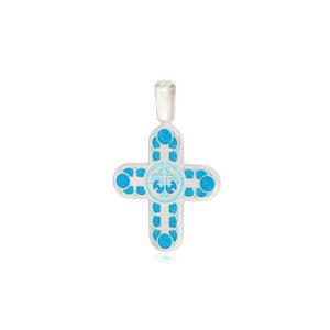8 31 1s 3 300x300 - Нательный крест из серебра «Седмица», голубой
