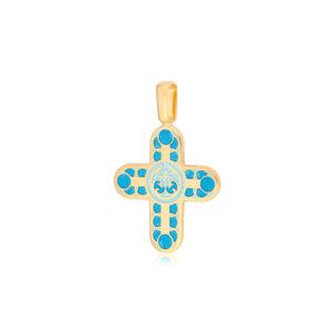 8 31 1z 2 300x300 - Нательный крест «Седмица» (золочение), голубой