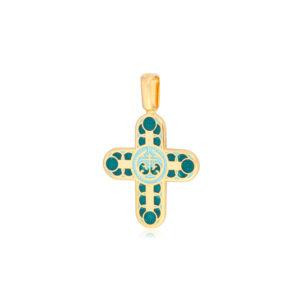 8 31 2z 1 300x300 - Нательный крест «Седмица» (золочение), зеленый