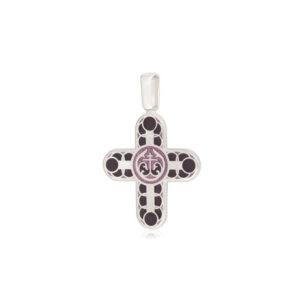 8 31 3s 1 300x300 - Нательный крест из серебра «Седмица», бирюзовый