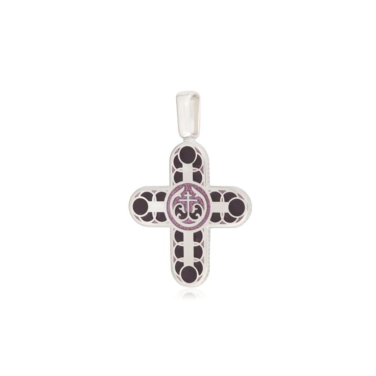 8 31 3s 1 - Нательный крест из серебра «Седмица», фиолетовый
