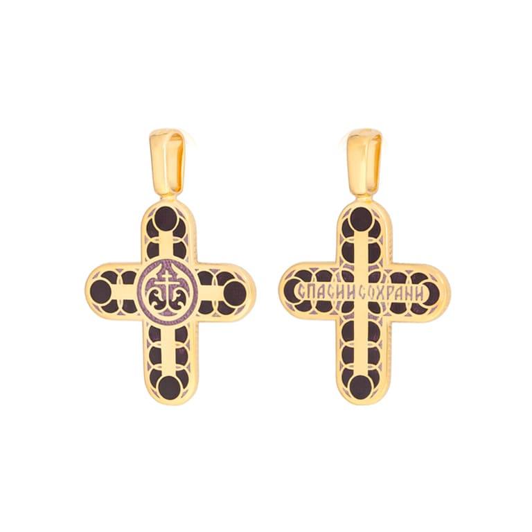 8 31 3z 1 - Нательный крест «Седмица» (золочение), фиолетовый